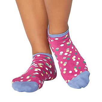 Faerie women's soft bamboo anklet/ trainer socks in magenta | Thought