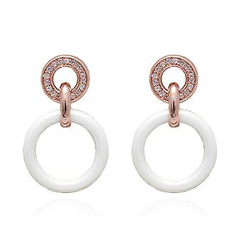 Ah! Jewellery Drop Hoop Ceramic Crystal from Swarovski Earrings