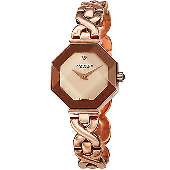 Akribos XXV AK1086RG Women's Quartz Diamond and Crystal Bezel Bracelet Watch
