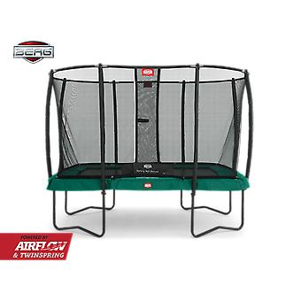 BERG Ulti Champion regelbundna 330 studsmatta + Safety Net Deluxe Green