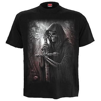 Spiral Direct Gothic SOUL SEARCHER - T-Shirt Black Plus Size|Reaper|Cross|Souls