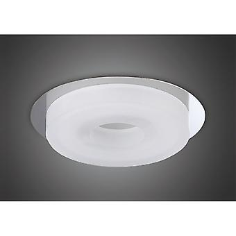 Marcel Recessed Down Light 6w Led Round 3000k Ip44, 550lm, Polished Chrome/frosted Acrylic, 3yrs Warranty