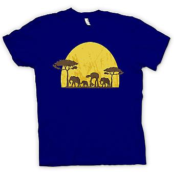 Mens T-shirt - Star Wars-Safari - Elefant und ATAT