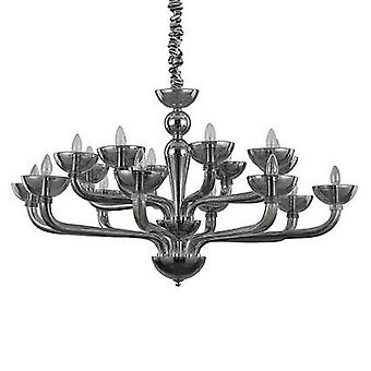 Ideal Lux - Casanova Smokey Glass Sixteen Light Chandelier IDL095639
