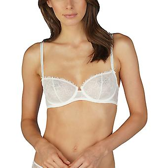Mey Women 74046-5 Women's Fabulous Champagne Off-White Lace Non-Padded Underwired Balconette Balcony Bra