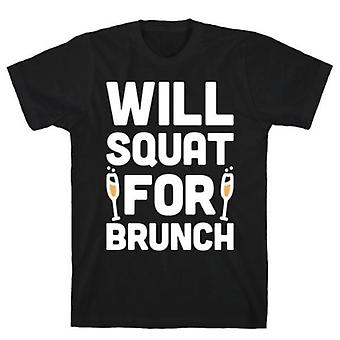 Will squat for brunch  grey t-shirt