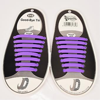 Trendy schoenveter die hoeft niet te worden gebonden 8 paren-paars