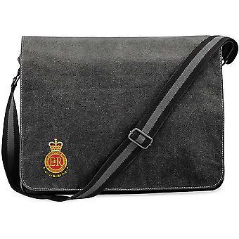 RMAS Royal Military Academy Sandhurst - Licensed British Army Embroidered Vintage Canvas Despatch Messenger Bag