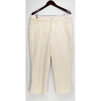 Isaac Mizrahi en direct! Petit Pantalon Brossé Sateen Ivoire A293945