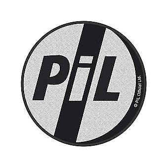 PiL Public Image Ltd sew-on cloth patch 90mm round (rz)