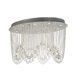 Diyas Camilla Ceiling Oval 12 Light Polished Chrome/Crystal