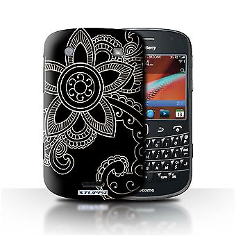 STUFF4 Case/Cover voor Blackberry Bold 9900/Daisy/Henna Tattoo