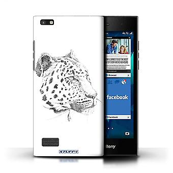 STUFF4 Case/Cover for Blackberry Leap/Leopard/Sketch Drawing