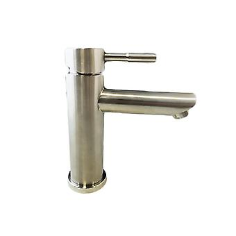 Bath Mixer in Stainless Steel Low, Complete