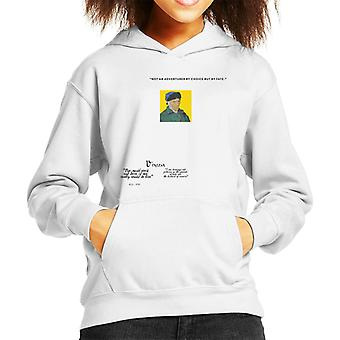 A.P.O.H Vincent van Gogh One Must Work And Dare Quote Kid's Hooded Sweatshirt