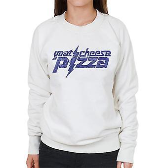 Zits blaue Ziegen Käse Pizza Frauen's Sweatshirt