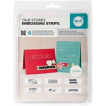 We R Phrase Strips Embossing Folders 6