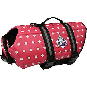 Paws Aboard Doggy Life Jacket Medium-Pink Polka Dot M1400-P1400