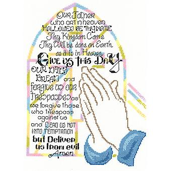Praying Hands Counted Cross Stitch Kit-9.25