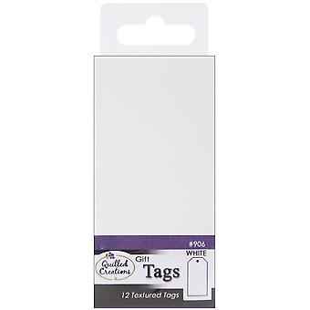Gift Tags 12 Pkg White Qc906