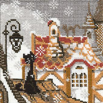 City & Cats Winter Counted Cross Stitch Kit 5