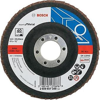 Flap disc - 115 mm, 22,23 mm, 40 Bosch Accessories 2608607349