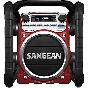 Sangean Bathroom Radio, Red, Black