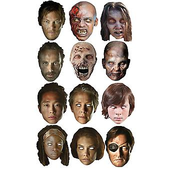L'ambulante morto Ultimate Party Card viso maschera Variety Pack Set di 11
