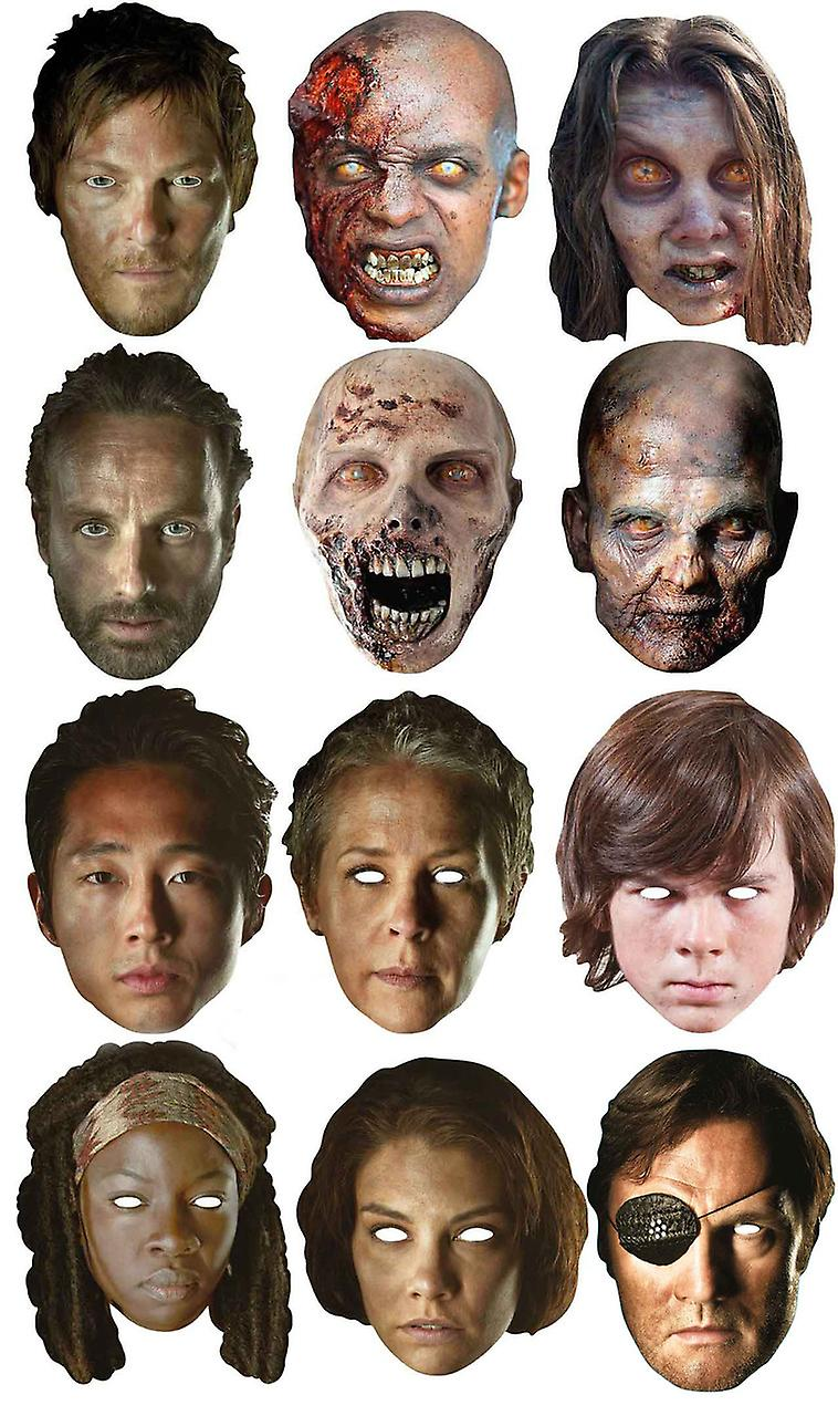 The Walking Dead Ultimate Party Card Face Mask Variety Pack Set of 12