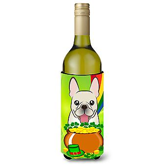 French Bulldog St. Patrick's Day Wine Bottle Koozie Hugger BB1982LITERK