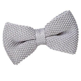 Knitted Silver Bow Tie