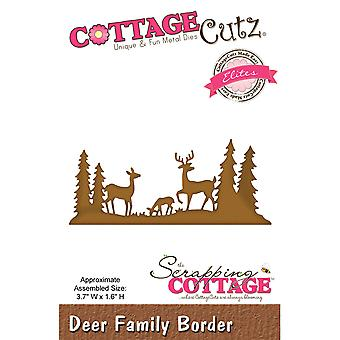 CottageCutz Elites Die-Deer Family Border, 3.7