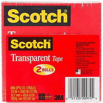 Scotch Transparent Tape 2/Pkg-.5