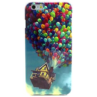 Cape House with balloons in TPU rubber for iPhone 6 Plus 5.5