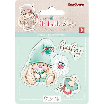 ScrapBerry's My Little Star Clear Stamps-Baby 907044