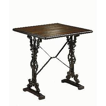 Stanlo Cast Iron And Wood Table - Square