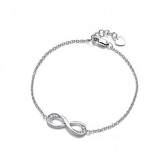 Cavendish French Silver and Cubic Zirconia Infinity Bracelet