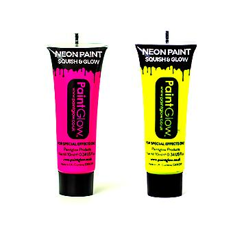 PaintGlow Set of 2 Body Paints -Pink,Yellow