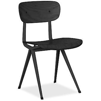 Superstudio College Chair -Metal Black Matte - Black Wood