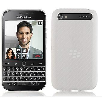 InventCase TPU Gel Case Cover Skin with Screen Protector for BlackBerry Classic 2014 - Frosted Clear