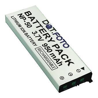 Dot.Foto Casio NP-50 udskiftningsbatteri - 3.7V / 950mAh