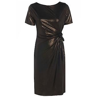 Sexy Women's Metallic Slinky Side Bow Dress DR594-10
