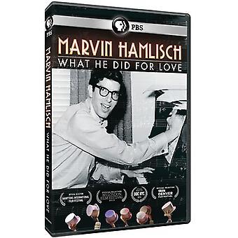 American Masters - American Masters: Marvin Hamlisch: was er tat, für [DVD] USA Import