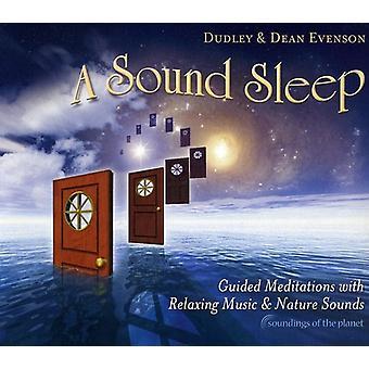 Dudley Evenson & Dean - lyd søvn: Guidede meditationer med afslappende Musi [CD] USA import
