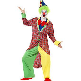 La Circus Deluxe Clown Kostüm mit Jacke Hose Mock Hemd mit Fliege und Überschuhen Gr. L