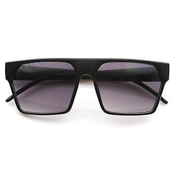 Designer Inspired Triangular Shaped Frame Flat Top Aviator Sunglasses