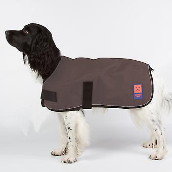 Ginger Ted Shower Waterproof Dog Coat Brown with Warm Fleece Lining (All Sizes)