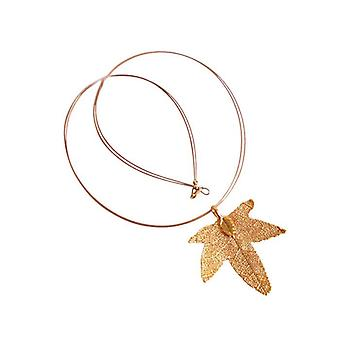 Leaf maple leaf necklace maple neck chain electro plated gold plated