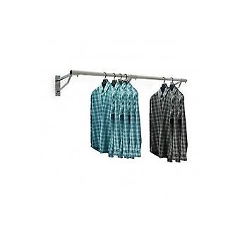 Wall Mounted Clothes Hanging Rail - 1830mm