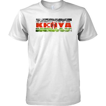 Kenya Grunge Country Name Flag Effect - Kids T Shirt